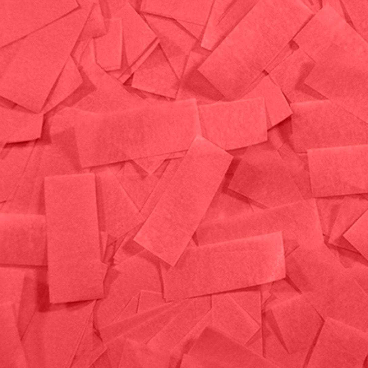 Бумага для шоу папиросная (тишью) Лайт Конфетти красная