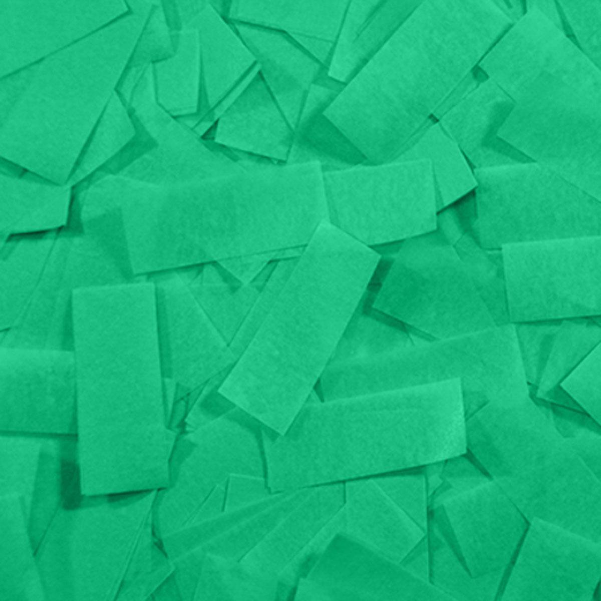 Бумага для шоу папиросная (тишью) Лайт Конфетти зеленая