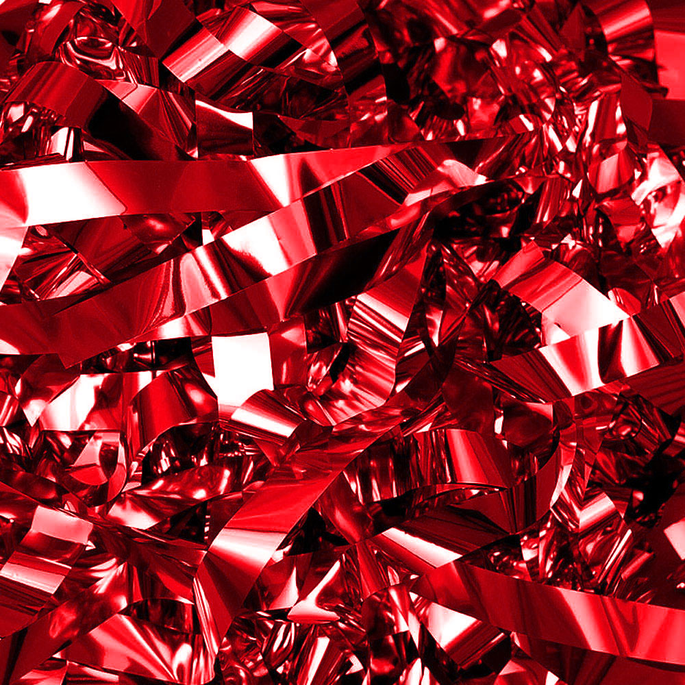 Бумага для шоу фольгированная цветная красная