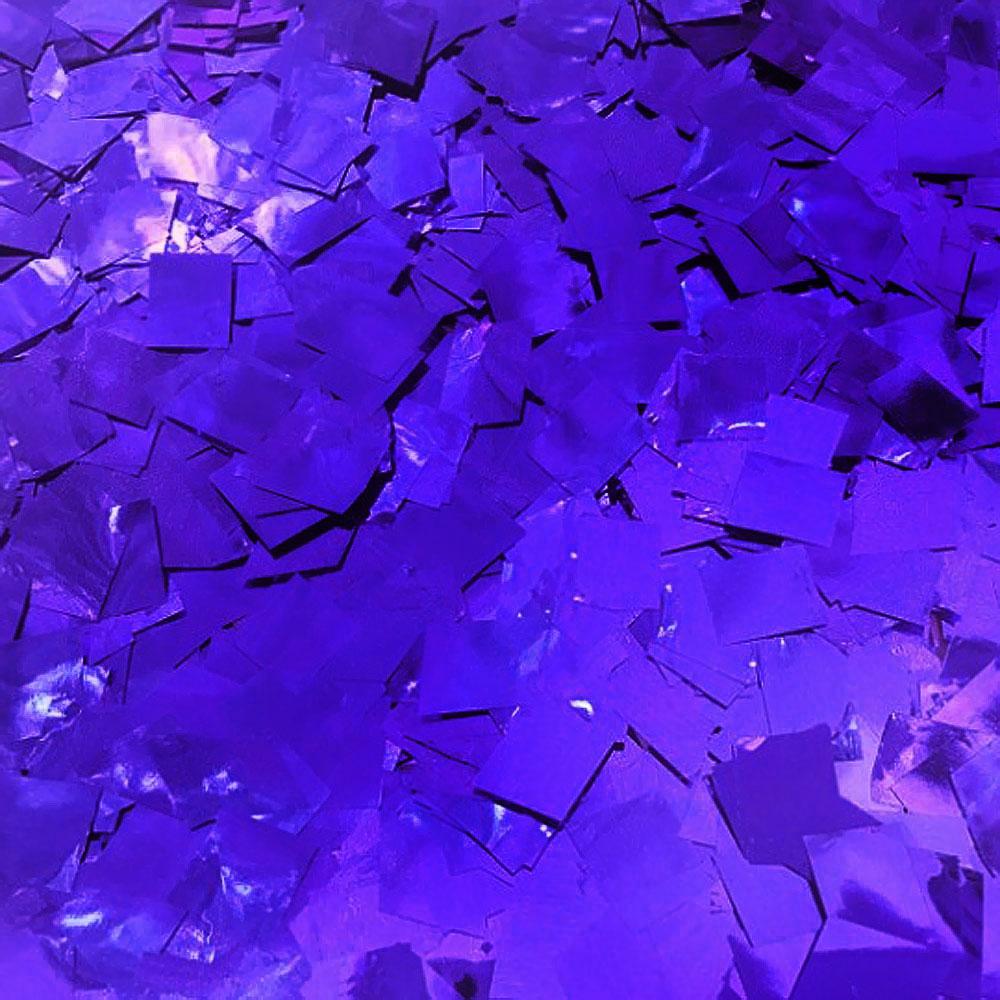 Бумага для шоу Конфетти фольгированная цветная фиолетовая