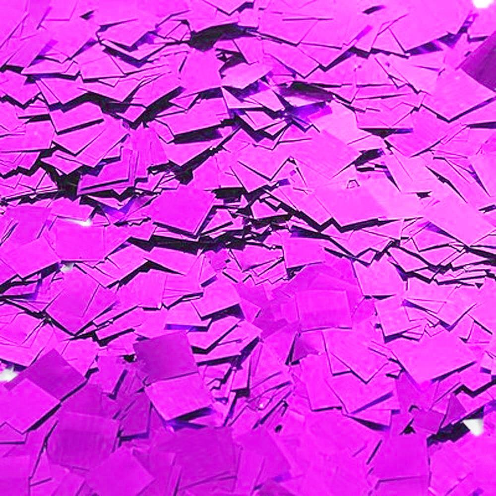 Бумага для шоу Конфетти фольгированная цветная розовая