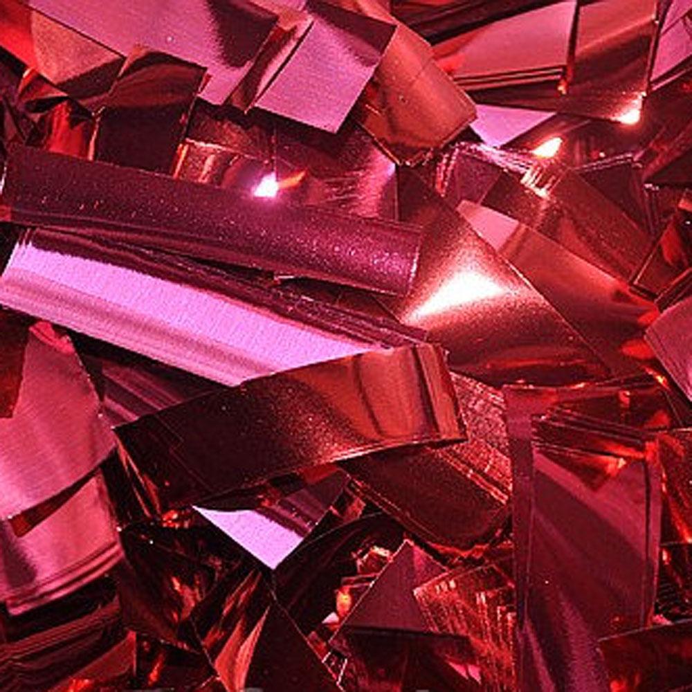 Бумага для шоу Конфетти фольгированная цветная красная