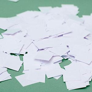 Бумага для бумажного шоу Конфетти 'Белый  Дождь 2'