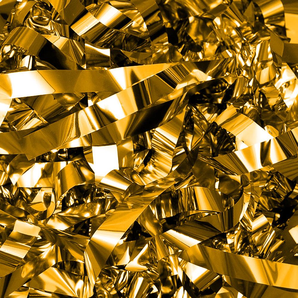 Бумага для шоу фольгированая золотая. Полоски